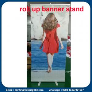 China Roll Up Retractable Display Banners For Indoor Advertising on sale