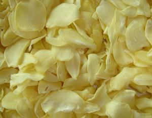 China White Food Recipe Dehydrated Vegetables Dried Garlic Flakes SDV-GARF on sale