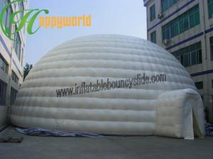 China Giant Square Inflatable Party Tent PVC Tarpaulin White Outdoor Lgloo on sale