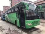 51 Seats 2010 Year Yutong Used Tour Bus Front Engine Green Two Slide Doors