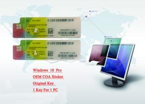 Quality Russian Windows 10 Pro COA Sticker / Windows 10 Pro License FQC-08929 for sale