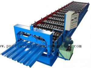 China PLC Steel Metal Roof Panel Roll Forming Machine , Roofing Sheet Roll Former 5 Ton on sale