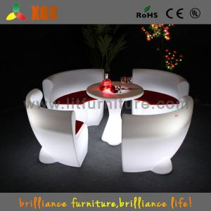 China Comfortable LED Light Sofa Led Glowing Plastic Chairs For Night Bar on sale