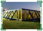China Fire Retardant Inflatable Paintball Bunkers , Giant Inflatable Paintball Field wholesale