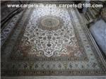 ハンドメイドの洗浄されたペルシャの絹のカーペット