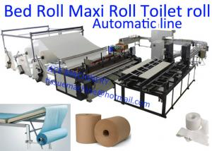 China CE Φ76mm Maxi Toilet Tissue Paper Roll Making Machine on sale
