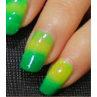 Green to Yellow Changing Pigment Thermochromic Pigment Color to Color Nail Polish / Fake Hair