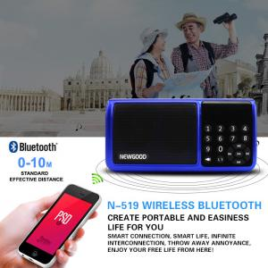 China Bluetooth Hifi portable mp3 music player speaker with FM radio on sale
