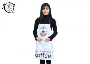 China Bib Canvas Houseware Items Adult Kitchen Aprons Premium Quality Unisex Coffee Cup Pattern With Pockets on sale