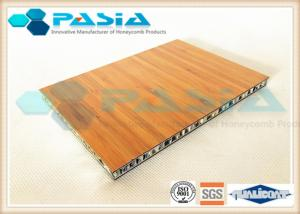 China Bamboo Veneer Composite Aluminum Faced Panels Soundproof Antirust on sale