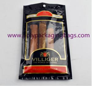 China Moisture Proof Plastic Cigar Packaging Bag With Resealable Ziplock wholesale