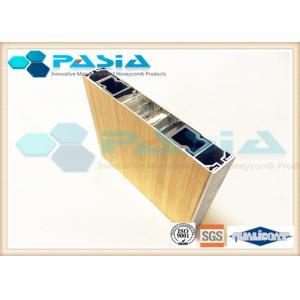 China RHS / C Channel Sealed Aluminum Honeycomb Panels Bus / Train / Subway Body Use on sale