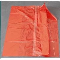China Red Color Water Soluble Laundry Sacks Cold Water Soluble Bags With Strip CE ISO on sale