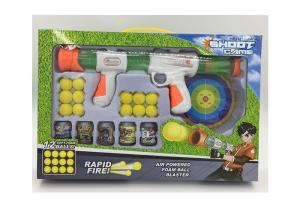 China Safe Kids Sports Toys Pump And Launch Blaster Shooting Toy Gun With Foam Balls on sale