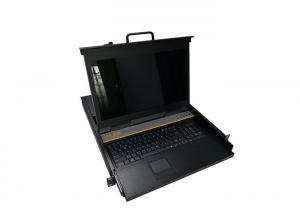 China 8 Ports Rackmount Lcd Drawer , 1U Kvm Switch Lcd For Industrial Computer on sale
