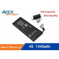 ACCX brand new high quality li-polymer internal mobile phone battery for IPhone 4S with high capacity of 1450mAh 3.7V