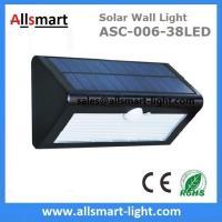 38LED 550 Lumens 7W Motion Sensor Solar Wall Light PIR Sensor Light Triangle Solar Lights Chinese Manufaturer Supplier