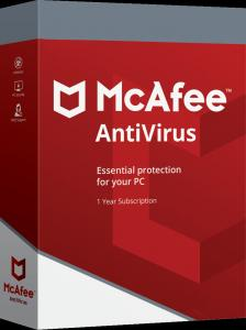 China McAfee PC Antivirus Software 2019 1 Device 1 Year Subscription Email Activation wholesale