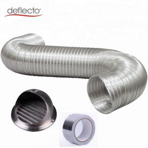 China Ventilation Kit China Supplier Aluminum Semi Rigid Flexible Duct Stainless Steel Round Vent Cover on sale