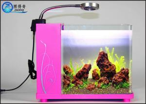 China Lovely Mini Crystal Glass Aquarium Desktop Model Sea Aquarium on sale