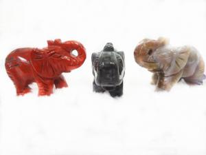 China Elephant Carving, Handmade Semi Precious Stone Jewelry, Carved Gemstone Animals on sale