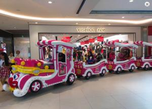 China Luxury Cartoon Trackless Train Amusement Ride With Stainless Steel Material on sale
