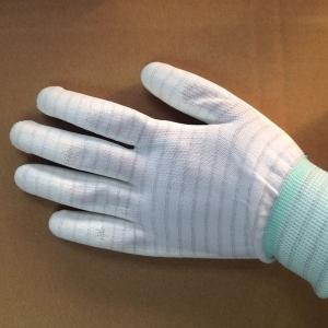 China stripped ESD anti static PU coated gloves for electronic factory use on sale