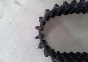 220mm Width Rubber Snow Tracks , Low Noise Snowmobile Track