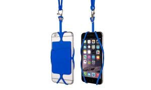 China Heat Resistant Silicone Phone Accessories / Silicone Cell Phone Lanyard With Case on sale