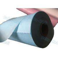 China Perforated Disposable Bed Sheets , Disposable Examination Bed Cover Roll PE Coated on sale