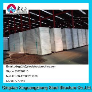 China Sandwich panel frame flat pack living container house refugee camp on sale