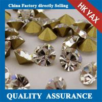 China point back glass rhinestones wholesale,glass rhinestones point back for garment,pointback glass stone on sale