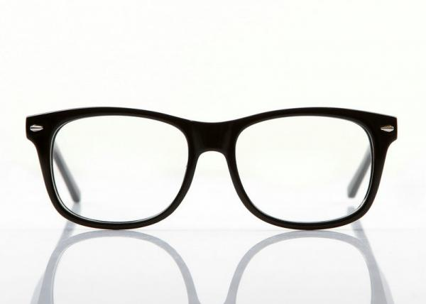 Wide Oval Shaped Men Spectacle Frames , Black Plastic Eyeglass ...