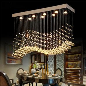 China K9 Modern Crystal Pendant Lighting Lustre For Hotel Lobby Steel Material on sale