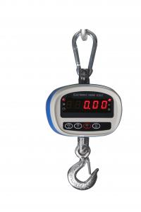 China Blue Portable Plastic Hanging Digital Pocket Scales With LED Display 30Kg on sale