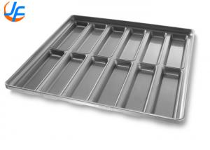 China OEM Aluminium Baking Tray / Round End Hoagie Bun Pan With Inverted Construction on sale