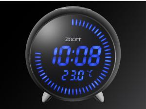 China Zoom Sphere Alarm Clock a big rounded LCD display show the time and temperature With snooz on sale