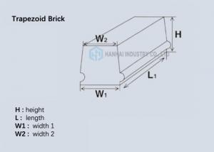 China 70mm 75% Alumina Ceramic Lining / Alumina Refractory Brick Size Customized on sale