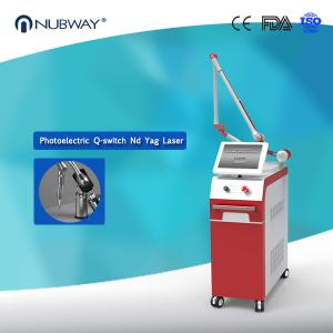China Electro-optics Pigment Lesions Dual wavelength 1064nm 532nm Q Switch Nd Yag Laser Tattoo Removal Machine on sale