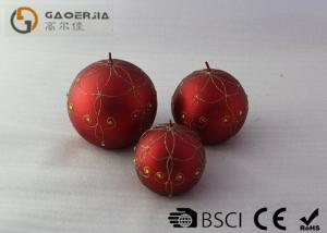 China ledcandle ball , with False wick,Christmas carving ball  silver red and Multi Color on sale