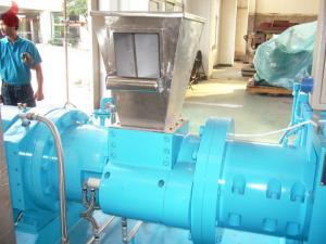 China Máquinas hidráulicas da extrusora do filtro para a borracha 48rpm ¢200mm do silicone on sale