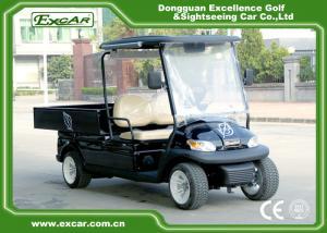 China Black Color Lifted Beverage Food Golf Cart 48V 2 Passenger Hotel Buggy Car on sale