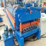 China Experienced manufacturer supply custom color tile trapezoidal roll forming machine wholesale