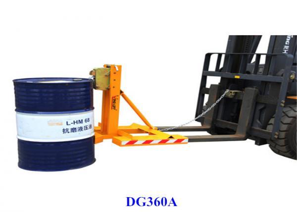 Detachable Frame Welded Steel Forklift Drum Grabber / Barrel Grab ...