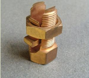 China Custom Size Split Bolt Connector Copper Grounding Connector For Cable Wire on sale