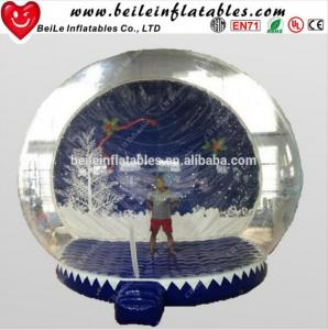 China HOT Giant Inflatable Christmas Ornaments Ball Snow Globe for Outdoor Advertising on sale