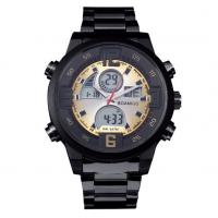 Wholesale Men Anlaogue Digital Dual Time Stainless Steel Bands Casual Sport Wrist Watches BOAMIGO F100
