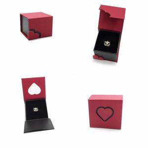 China Fashionable Bespoke Leather Hinged Paper Packaging Boxes For Silver Jewelry Gift on sale