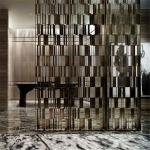 Hot sale hotel decor metal screen partition wall panel  for private screen room divider