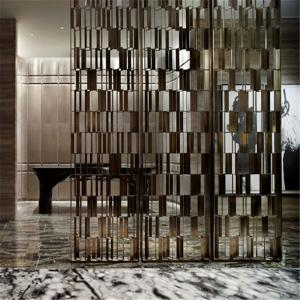China Hot sale hotel decor metal screen partition wall panel  for private screen room divider on sale